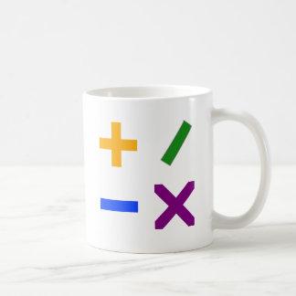 Färgrika Arithmetic symboler Vit Mugg