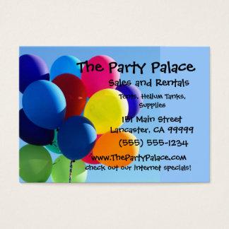 Färgrika ballonger visitkort