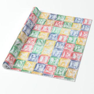 Färgrika barns kvarter presentpapper