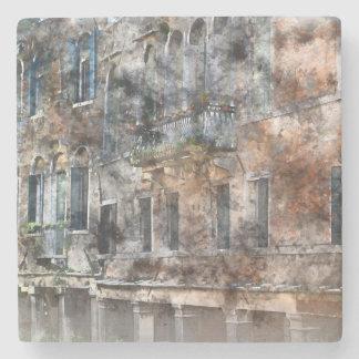 Färgrika byggnader för Venedig italien Stenunderlägg