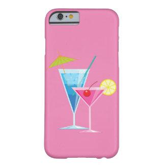 Färgrika coctailar på det rosa fodral för iPhone Barely There iPhone 6 Skal