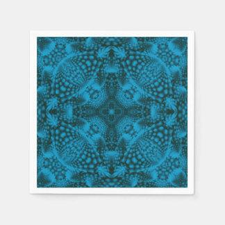 Färgrika coctailservetter för svart och för blått servett