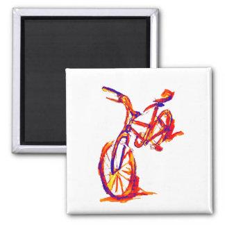Färgrika cykeldesigner magnet
