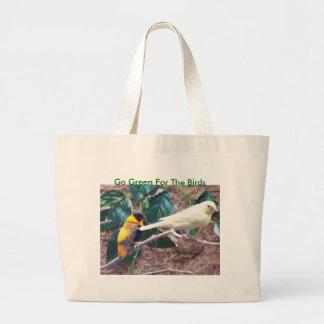Färgrika fåglar går grönt för fåglarna kasse