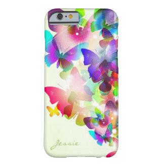 färgrika fjärilar för abstrakt vår med namn barely there iPhone 6 fodral