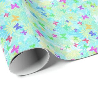 Färgrika fjärilar och daisy av Shirley Taylor Presentpapper