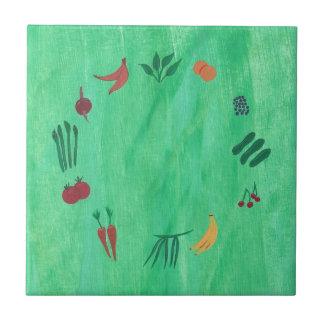 Färgrika frukter och grönsaker Trivets Kakelplatta