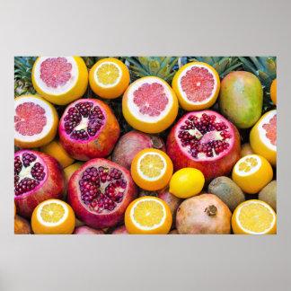 Färgrika frukter poster