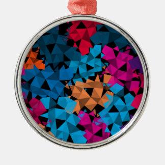Färgrika geometriska Shapar 3D Julgransprydnad Metall