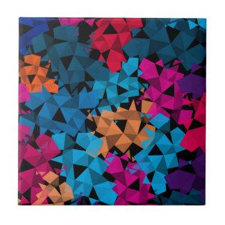Färgrika geometriska Shapar 3D Kakelplatta