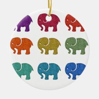 Färgrika gulliga för trendig elefanter flickaktigt julgransprydnad keramik