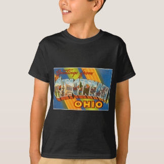 Färgrika hälsningar för vintage från Cincinnati Tee Shirts