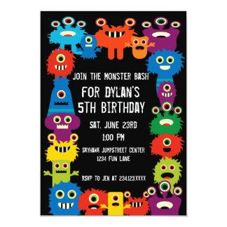 Färgrika inbjudningar för monsterbarns 12,7 x 17,8 cm inbjudningskort