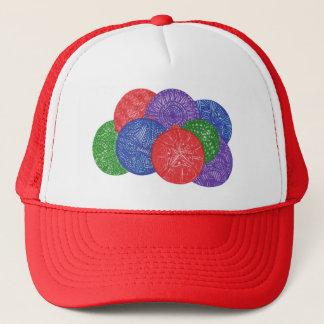 Färgrika julbollar - abstrakt hattar truckerkeps