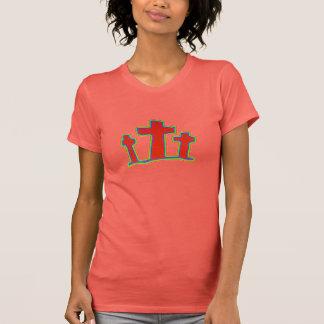 Färgrika kristna kvinna skjorta tee shirts