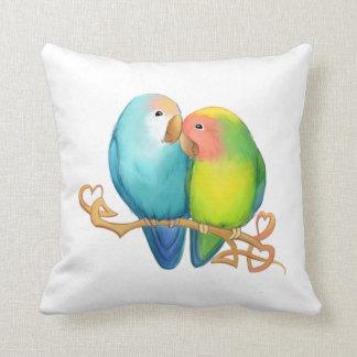 Färgrika Lovebirds kudder Kudde
