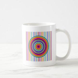 Färgrika mönster för regnbåge kaffemugg