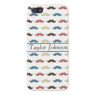 Färgrika mustascher iPhone 5 skydd