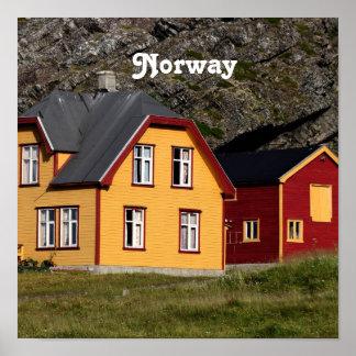 Färgrika norgehus print