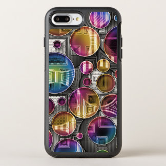 Färgrika Orbs - abstrakt konst OtterBox Symmetry iPhone 7 Plus Skal