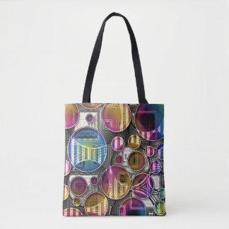 Färgrika Orbs - abstrakt konst Tygkasse