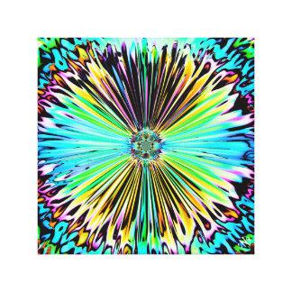 Färgrika psychedelic skissar av en blomma 2 canvastryck