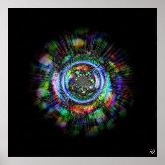 Färgrika psychedelic skissar av ett öga poster