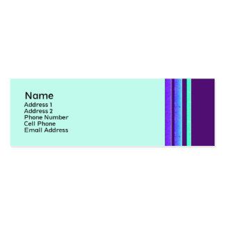 färgrika randar set av smala visitkort
