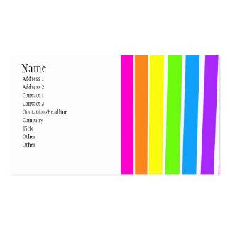 Färgrika randar set av standard visitkort