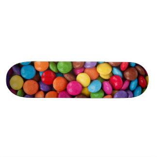 Färgrika regnbågegodissötsaker mini skateboard bräda 18,7 cm