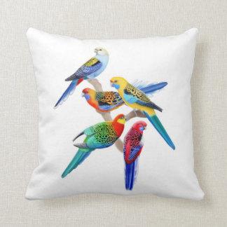 Färgrika Rosella papegojor kudder Prydnadskuddar