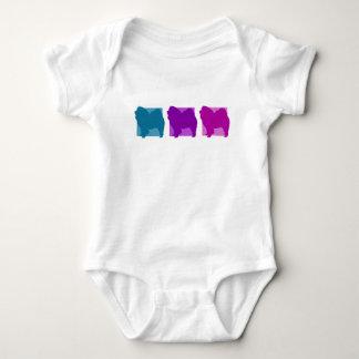 Färgrika Silhouettes för ChowChow Tee Shirt