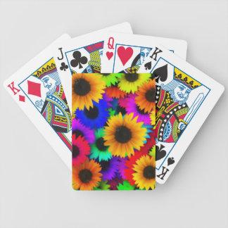 Färgrika solrosor spelkort