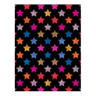 Färgrika stjärnor vykort