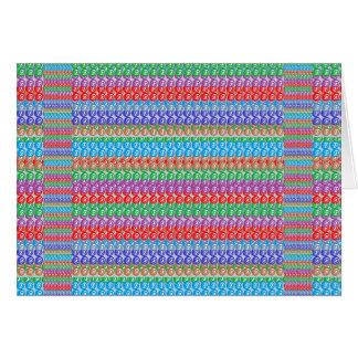 Färgrika strukturer skuggar TEXTFOTOET för mönster Hälsningskort