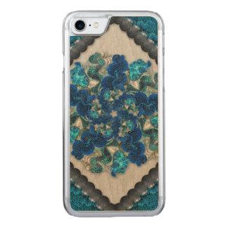 Färgrika Tahitian samlar musslor mandalaen Carved iPhone 7 Skal