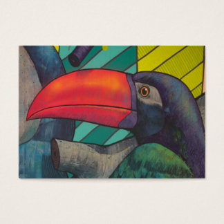 Färgrika Toucan grafitti Visitkort