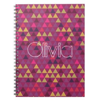 Färgrika trianglar anteckningsbok