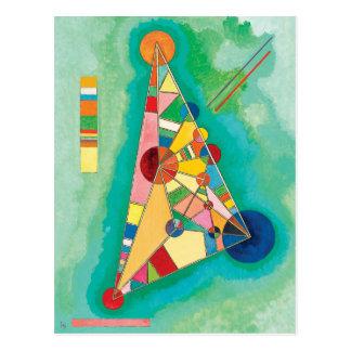 Färgrika trianglar av Wassily Kandinsky Vykort
