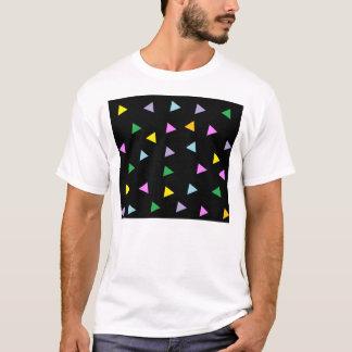 Färgrika trianglar t shirt