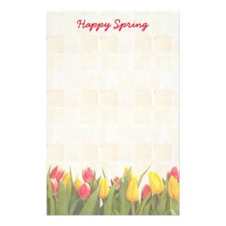 Färgrika tulpan för lycklig vår brevpapper