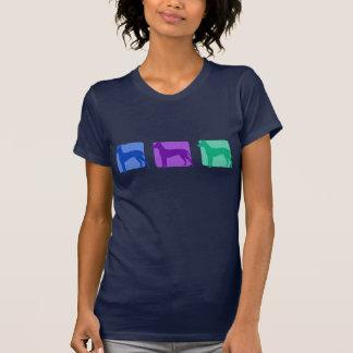 Färgrika Xoloitzcuintli Silhouettes T-tröja Tee