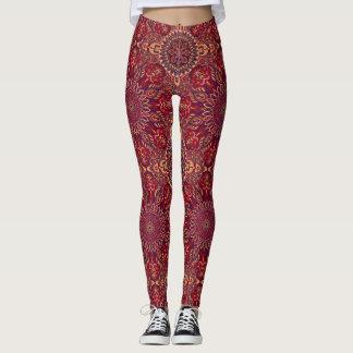 Färgrikt abstrakt etniskt blom- mandalamönster de leggings