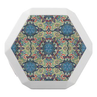 Färgrikt abstrakt etniskt blom- mandalamönster de vit bluetooth högtalare