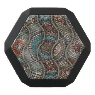 Färgrikt abstrakt etniskt blom- mandalamönster svart bluetooth högtalare
