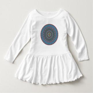 Färgrikt abstrakt etniskt blom- mandalamönster t-shirt