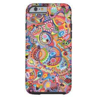 Färgrikt abstrakt fodral för konstiPhone 6 Tough iPhone 6 Skal