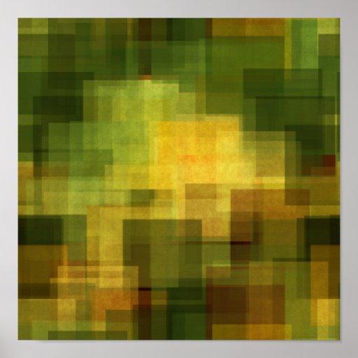 färgrikt abstrakt geometriskt för konstvintage affisch