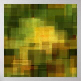 färgrikt abstrakt geometriskt för konstvintage poster