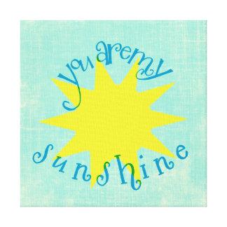 Färgrikt är du mitt solsken cirklar typografi canvastryck